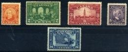 Canadá  Nº 121/25. Año 1927 - Unused Stamps