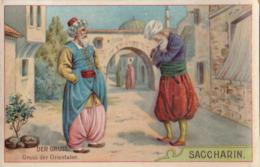 Chromo Saccharin Sucre Deutschland Der Gruss Le Bonjour Salut Chez Les Arabes - Autres