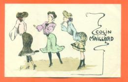 "CPA Illustrateur à Identifier "" Colin Maillard "" Femmes En Robes - Postcards"