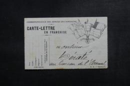 FRANCE - Carte Lettre FM écrite - L 47304 - Marcophilie (Lettres)