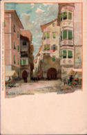 ! Alte Ansichtskarte Sign. Zeno Diemer, Bozen, Bolzano, Laubengasse, Südtirol, Italien, Italy - Bolzano (Bozen)