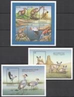 D456 ANTIGUA & BARBUDA FAUNA WILD ANIMALS ENDANGERED SPECIES !!! 2BL+1KB MNH - Briefmarken