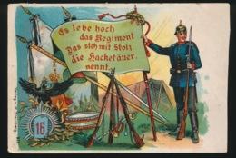 ES LEBE HOCH DAS REGIMENT DAS SICH MIT STOLZ DIE HACKETTÄUER NENNT - Regimente
