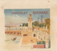 Chromo Chocolat Suchard Note Exposition Universelle 1900 Paris Pont Alexandre III - Suchard