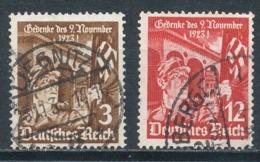 Deutsches Reich 598/99 Gestempelt Mi. 1,80 - Gebraucht