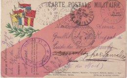 FRANCE : CARTE FM  . DRAPEAUX . NOMBREUSES OBLITERATIONS . 11/09/1914 . - WW I