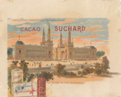 Chromo Chocolat Suchard Note Exposition Universelle 1900 Paris - Suchard