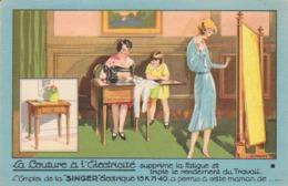 """Singer """" La Couture à L'électricité """"  Nancy / Toul / Epinal - Pubblicitari"""