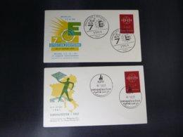 """BELG.1961 1111 FDC's ( Bruxelles/Tielt)  : """" 7ème Exposition Européenne & Europafeesten  """" - FDC"""