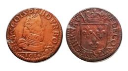 FRANÇOIS DE BOURBON-CONTI Liard De Château-Renaud 1614 Champagne - 476-1789 Monnaies Seigneuriales