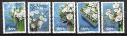 Suède 2017 N° 3179/3183 Oblitérés Fleurs D'hiver - Usati