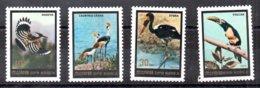 Corea Del Norte Serie Completa Nº Michel 2517/20 ** AVES (BIRDS) Valor Catálogo 11.5€ - Corea Del Norte