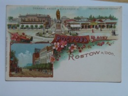 Russia 410 Rostow Rostov Pe Na Am Don 1900 Litho - Russland