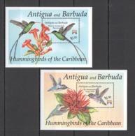 D467 ANTIGUA & BARBUDA FAUNA BIRDS HUMMINGBIRDS OF THE CARIBBEAN 2BL MNH - Colibríes
