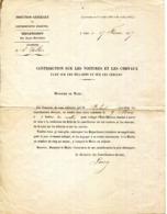 06.ALPES MARITIMES.SAINT VALLIER.CIRCULAIRE CONTRIBUTION SUR LES VOITURES A CHEVAUX.TAXE SUR LES BILLARD & CERCLES.1877. - Zonder Classificatie