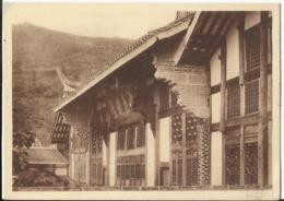China Chine ; Monastère De Si'shan Shunking Sze Chwan. La Salle Des Hôtes Et La Colline De Si' Shan - Chine