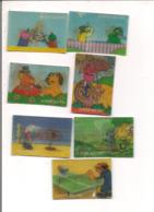 Lot De 7 Images  Lenticulaire Ou 3D -La Roche Aux Fées - CASIMIR Et SES AMIS, Les SCHTROUMPFS - Vieux Papiers
