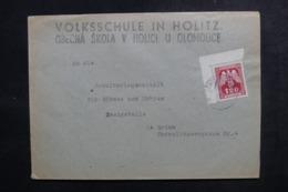 BOHÊME ET MORAVIE - Affranchissement Plaisant De Holitz Sur Enveloppe - L 47320 - Lettres & Documents