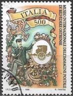 ITALY 1996 International Museum Of Postal Images, Belvedere Ostrense - 500l Postman And Emblem FU - 1991-00: Gebraucht