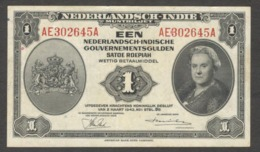 Netherlands Indies Civil Administration NICA 1 Gulden 1943 VF+ - Indonesia
