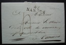 Nantes 1810 Lettre Du Procureur Impérial De La Loire Au Maire De Vannes à Propos D'un Homme Arrêté Avec Faux Passeport - 1801-1848: Précurseurs XIX