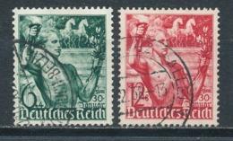 Deutsches Reich 660/61 Gestempelt Mi. 5,- - Gebraucht