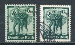 Deutsches Reich 662 + 663 Gestempelt Mi. 2,50 - Gebraucht