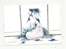 Cp , LA POSTE  , Illustrateur Ronald SEARLE ,chats ,1988 ,tirage 2000 Ex. , Vierge - Correos & Carteros