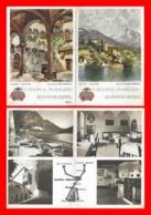 CPSM/gf MADRUZZO (Italie)  Castel Toblino Ristorante. Carte Publicitaire Double. Illustrateur L. Vicentini....K182 - Other Cities
