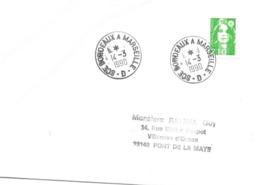 Ambulant: SCE Bordeaux A Marseille - D -  I4 -3 I990 - Railway Post