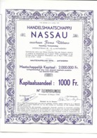 Handelsmaatshappij Nassau - Antwerpen - Actions & Titres