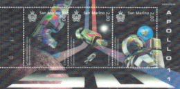 San Marino 2019 Space 50th Ann. Of The Moon Landing Apollo 11 3D SS MNH - Ruimtevaart