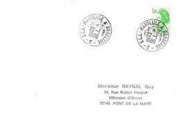 Ambulant: S.C.E.-Marseille A Bordeaux - C - 22 -I I986 - Railway Post