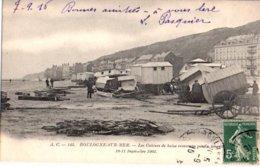 62: BOULOGNE SUR MER Les Cabines De Bains Jour De  La Tempete - Boulogne Sur Mer