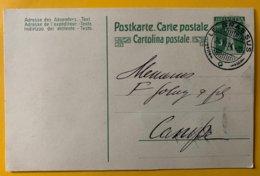 9163 -  Le Brassus 24.06.1914 Pour Campe - Entiers Postaux