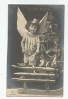 Cpa Fantaisie Ange Sapin De Noel Jouet  Poupée Tambour ..buon Natale 1908 - Anges