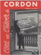 Dépliant   Publicitaire  Hôtel Du Mont Blanc à Cordon Dans Les Années 50 - Publicidad