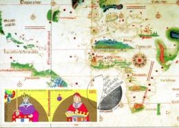PORTUGAL. N°1992 De 1994 Sur Carte Maximum. Traité De Tordesillas. - Tarjetas – Máximo