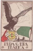 CPA : Primavera Italica , Illustrateur ,  Dell'inaugurazione Della Bandiera , Losanna 2 Octobre 1921 ( Italie ) - 1900-1949