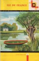 CARTE ROUTIÈRE 3 :  SHELL ; Ile De France , Cartoguide N° 4 Dessin De La Face Jean Colin - Cartes Routières
