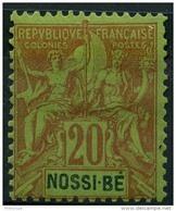 Nossi Bé (1894) N 33 * (charniere) - Nuovi