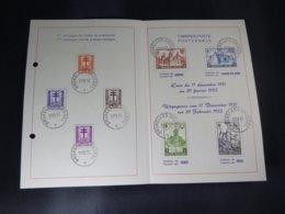 """BELG.1951 868/875 Filatelic Card : """" Chateaux / Kastelen """" - 1951-60"""