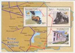 Kazakhstan 2001. FDC. 10th Anniversary Of Kazakh Railways.  Real Post From Kazakhstan To Russia. - Kazakhstan