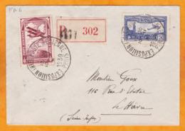 1930 - YT PA N° 6 Seul Sur Enveloppe Recommandée De Paris Vers Le Havre, Seine Maritime - Cad Arrivée - Poststempel (Briefe)