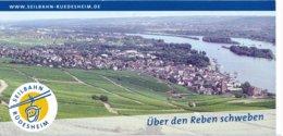 Rüdesheim Seilbahn Fahrkarte 2019 Erw. Kombi Assmannshausen Tour - Bahn