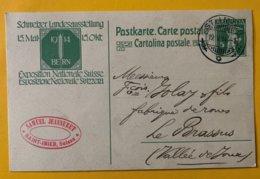 9170 -  Samuel Jeanneret St-Imier 19.05.1914 Entier Exposition Nationale - Entiers Postaux