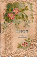 910Mm  Petit Calendrier De 1907 Du Confiseur Patissier Chocolatier Du Quartier - Calendriers