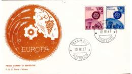 Fdc Flavia: EUROPA 1967; No Viaggiata; AF_Milano - 6. 1946-.. Republic