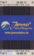 Schönau Am Königsee Jennerbahn Fahrkarte 2013 - Bahn