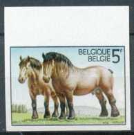 """[54884]SUP//ND/Imperf-c:11e-N° 1810, Cinquantenaire De La Fondation De La Société Royale """"Le Cheval De Trait Ardennais"""". - Bélgica"""